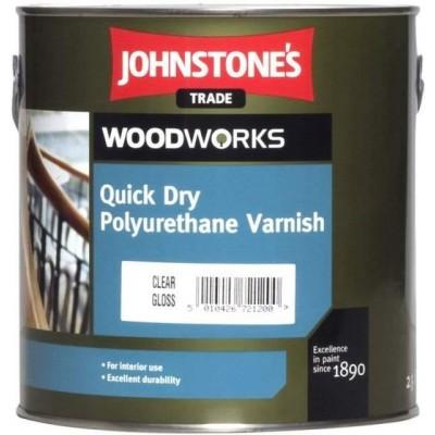 Водний лак Quick Dry Polyurethane Varnish Clear Gloss (2,5 л.)
